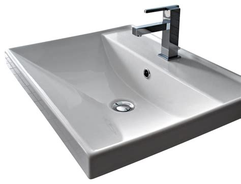 Bathroom Sink Overflow by Square White Ceramic Self Rimming Or Wall Mounted Bathroom