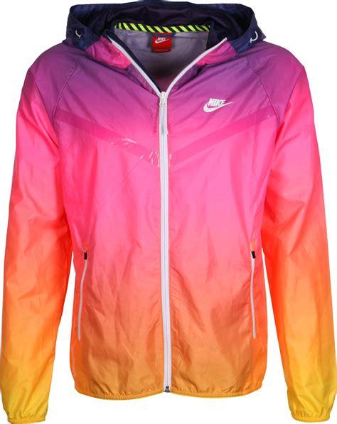 wind breaker nike ru sunset lw windbreaker pink purple orange