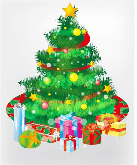 weihnachtsbaum grafik free tree and gift boxes vector graphic free