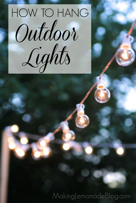 how to hang outdoor patio string lights how to hang outdoor string lights the deck diaries part