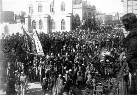 downfall of the ottoman empire syrian history emir faisal marching into aleppo in 1918