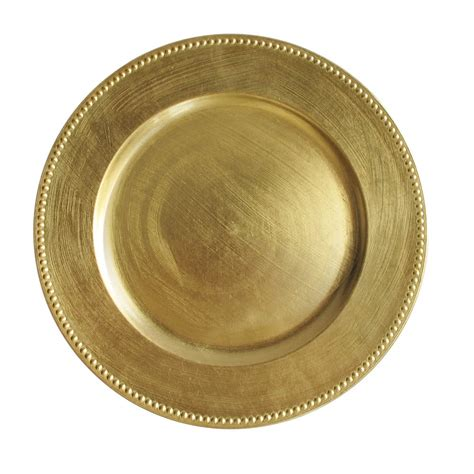 gold beaded chargers the companies 13 quot gold beaded melamine charger plate