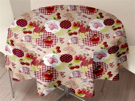 nappe ronde 160 cm toile ciree remc homes