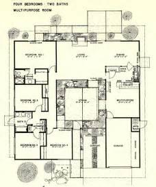 joseph eichler floor plans eichler 4br 2ba floorplan atrium modern house paint