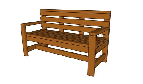 patio bench plans howtospecialist how to build step