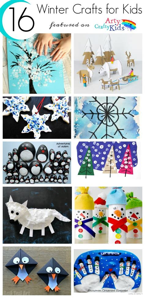 winter kid crafts 16 easy winter crafts for arty crafty