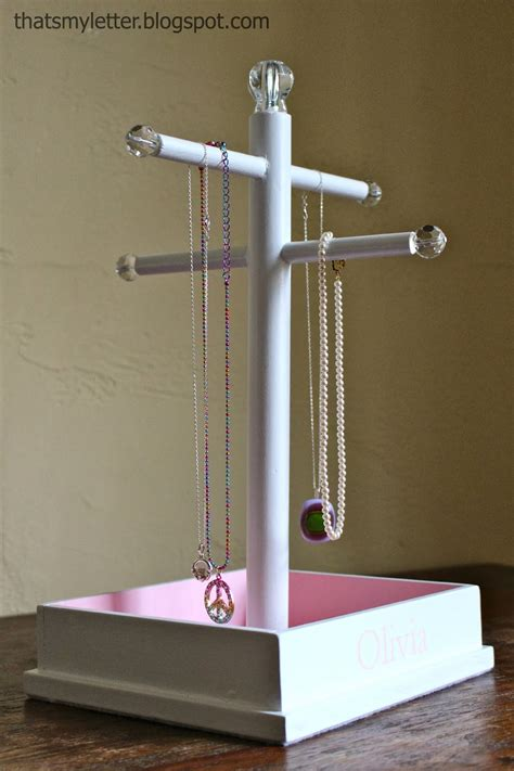how to make jewelry holder that s my letter diy jewelry stand