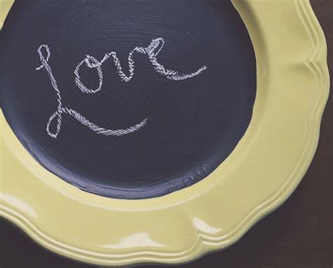 diy chalkboard plate chalkboard 10 lovely diy decorative plates diy