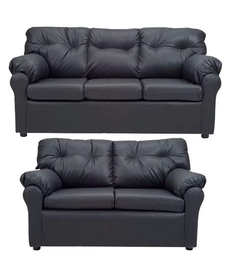 2 sofa set elzada 5 seater sofa set 3 2 in black buy elzada 5