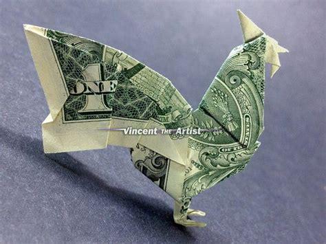 dollar bill origami book dollar bill origami rooster designed by montroll