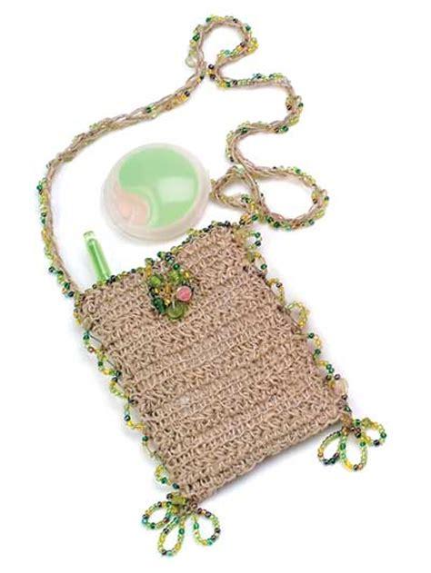 crochet beaded bag pattern crochet purse patterns free crochet pattern hemp