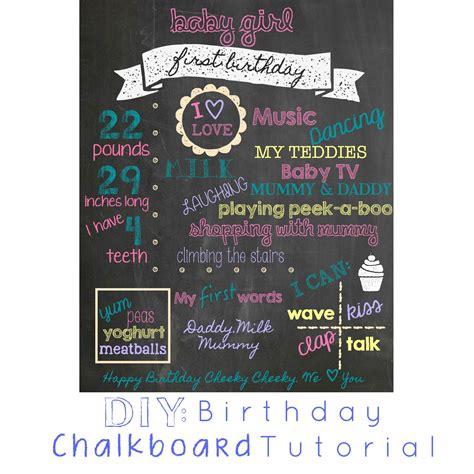 diy chalkboard birthday sign diy birthday chalkboard tutorial eat live