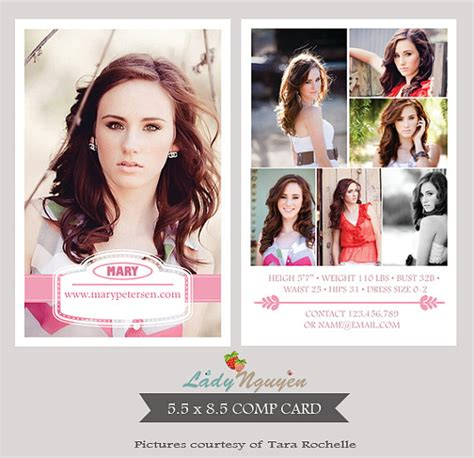 how to make a comp card instant modeling comp card photoshop templates