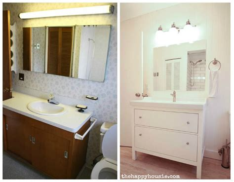 Bathroom Vanity Makeover by Thrifty Bathroom Makeover With An Ikea Hemnes Vanity