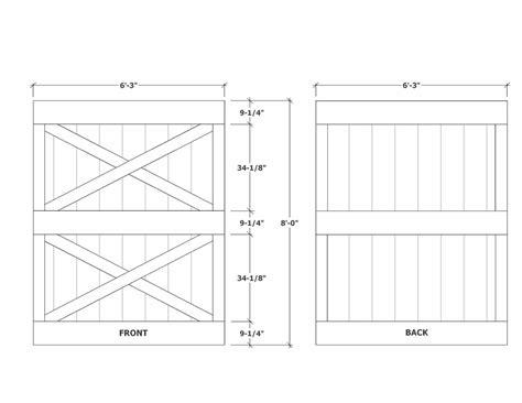 barn door dimensions barn door construction how to build sliding barn doors