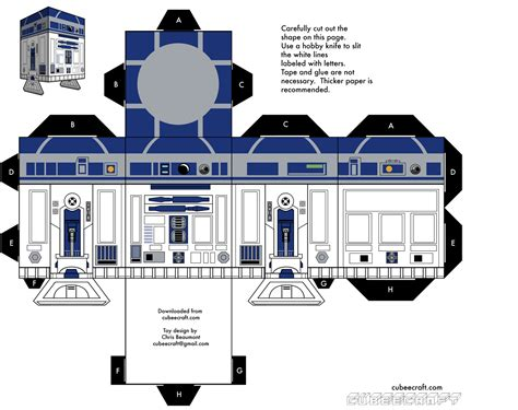 paper craft wars r2 d2 wars papercraft