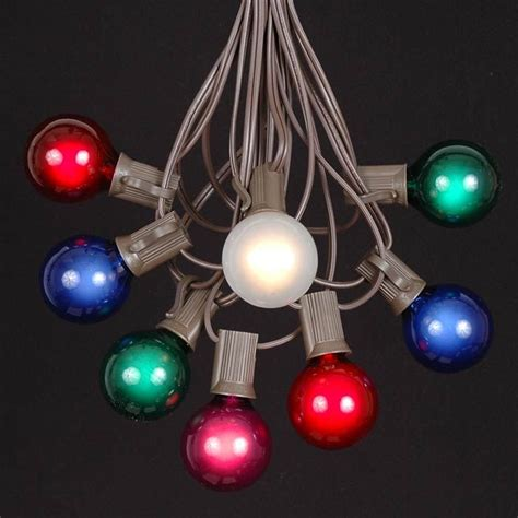 string lights with bulbs shop multi colored outdoor string lights globe lights
