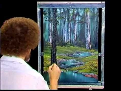 bob ross painting forest watches and lol on