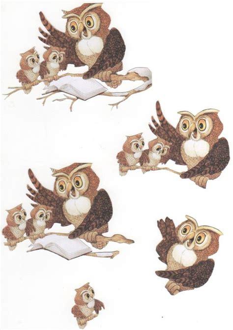 owl decoupage owls hiboux 3d decoupage knipvellen
