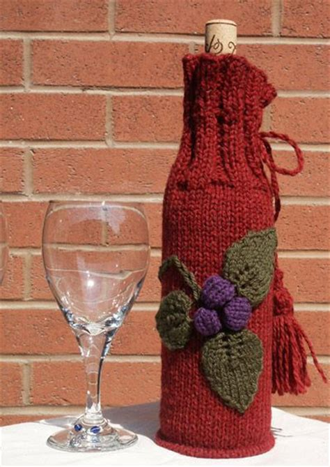 knitted wine bottle cozy knit wine cozy knitty knitting