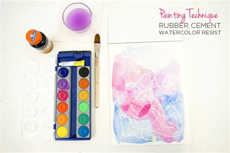 resist techniques rubber sting rubber cement watercolor resist painting technique tinkerlab