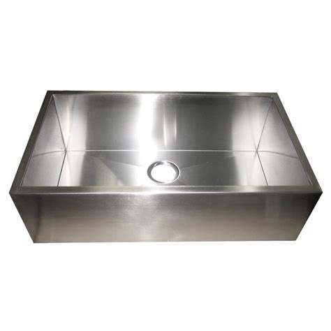 kitchen sink with apron 32 inch stainless steel flat front farm apron single bowl