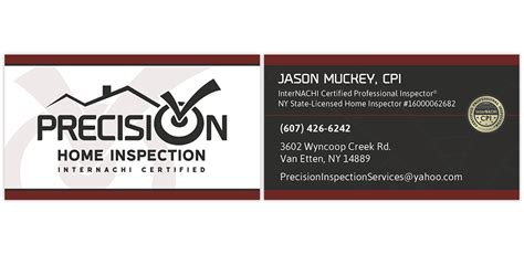 card business from home precision home inspection internachi marketing