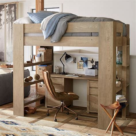 pottery barn loft bed with desk costa loft bed pbteen