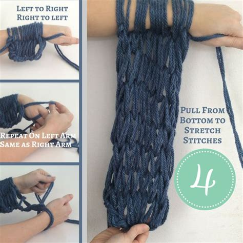 how to arm knit a scarf arm knitting scarfs and knits on