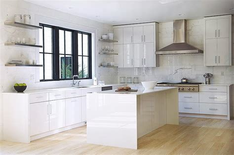 modern white kitchen cabinets white lacquered kitchen cabinets modern kitchen