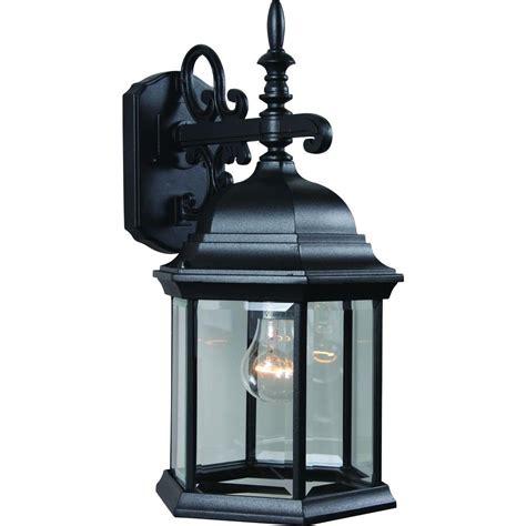 home depot outdoor wall lighting volume lighting 1 light black outdoor wall sconce v8120 5