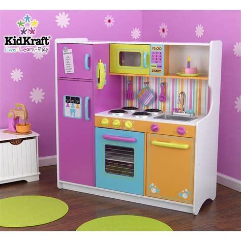 kid craft play kitchen kidkraft deluxe big bright play kitchen 53100