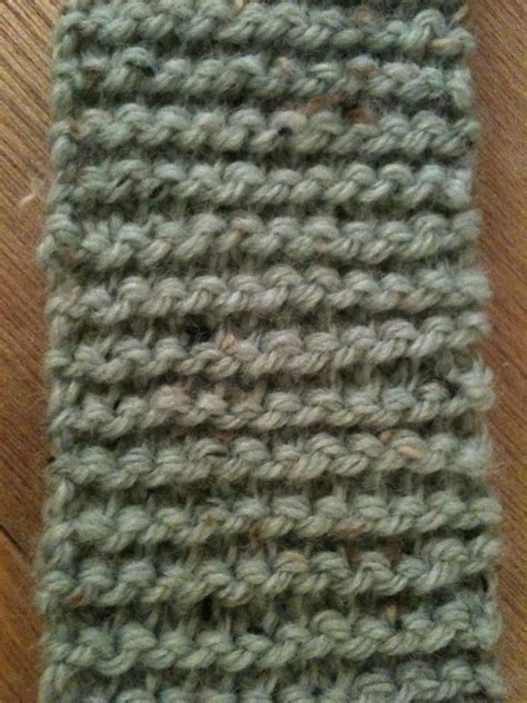 knitting how to end the not moss stitch scarf
