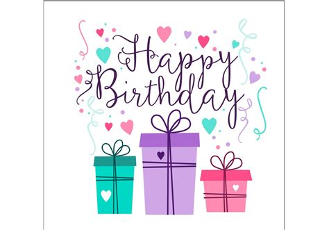 birthday card birthday card design free vector stock