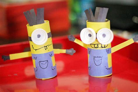 minion toilet paper roll craft toilet paper roll craft minions madpimp