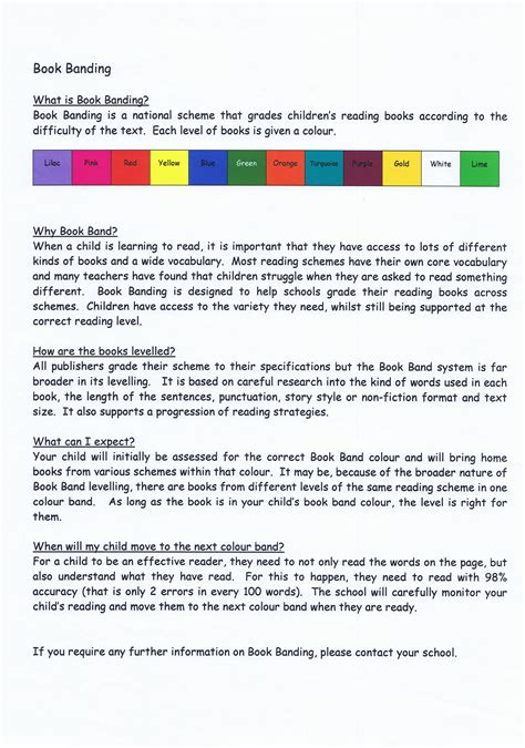 picture book band st s school letter reading book band levels