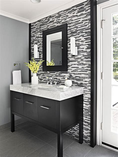 black modern bathroom vanity single vanity design ideas