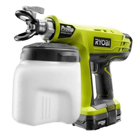 home depot paint machine ryobi 18 volt one protip speed sprayer p651k the home depot