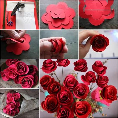 how to diy beautiful swirly paper roses
