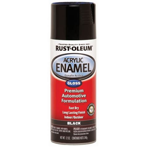 spray painting enamel 12 oz rust oleum 174 gloss black acrylic enamel spray paint