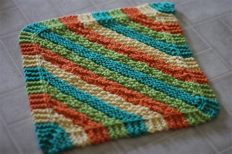 diagonal knit dishcloth knitted dishcloth patterns a knitting