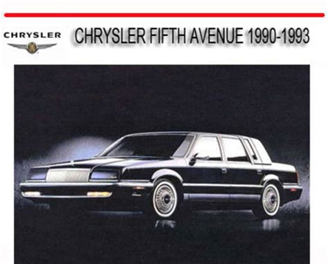 service manual free 1993 chrysler fifth ave online manual service manual all car manuals chrysler fifth avenue 1990 1993 repair service manual download ma