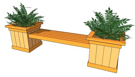 wood planter boxes woodworking plans wooden planter box bench plans woodproject