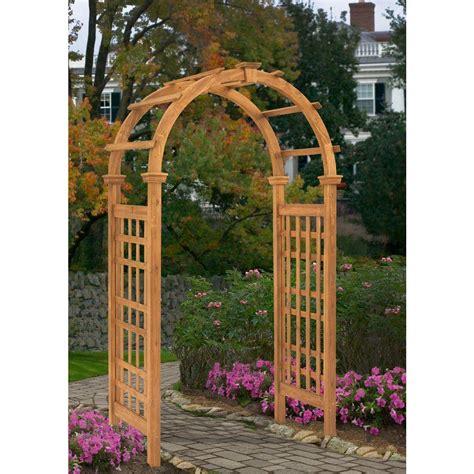 Garden Arch Home Hardware New Arbors Rosewood 47 In X 88 In Cedar Arbor
