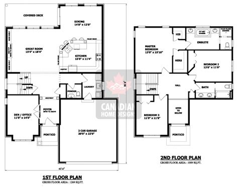 two storey residential building floor plan house plans canada stock custom