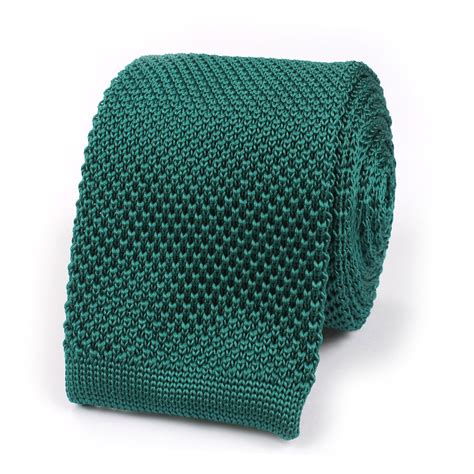 knitted green tie green teal knitted tie knit ties knits neckties