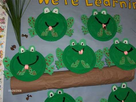 frog craft project paper plate frogs frogs we ponds and paper