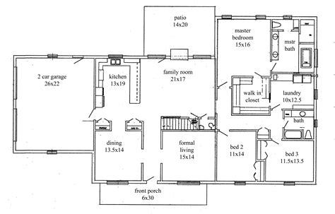 3 floor plan house plans open floor plan home office and 3 bedroom