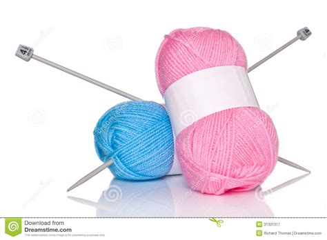 what size knitting needles for knit wool balls of wool and knitting needles royalty free stock