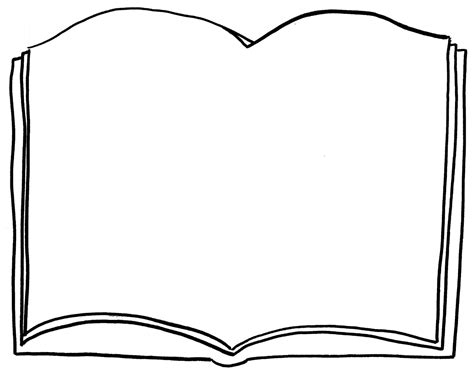 coloring picture of a book open book coloring page clipart best